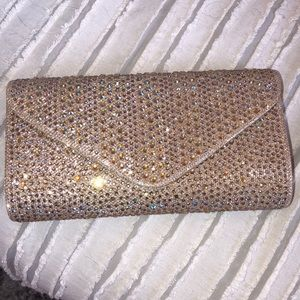 Rhinestoned clutch